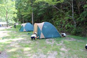 テントの風景