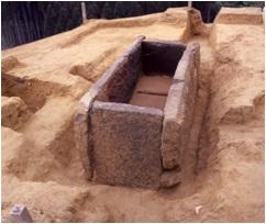 樫野古墳の箱式石棺