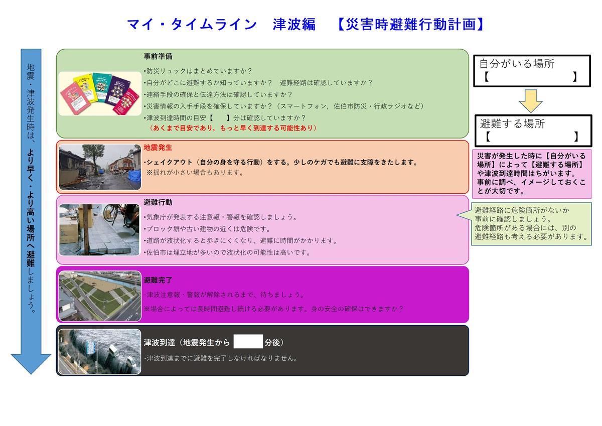 マイ・タイムライン津波編【災害時避難行動計画】